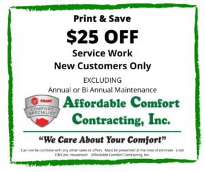 Affordable Comfort Contracting Print and Save on Service work