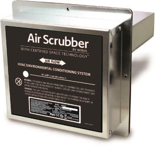 In duct air scrubber